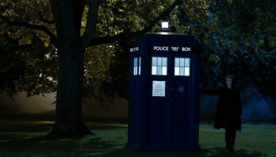 12th Doctor outside TARDIS